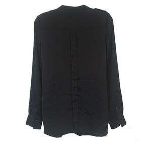 Trouve Tops - Trouve Slim Sleek Modern Button Down Blouse Top